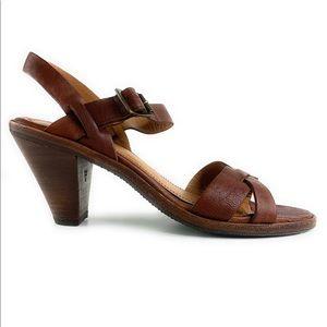 Trask Leather Sandal Heels